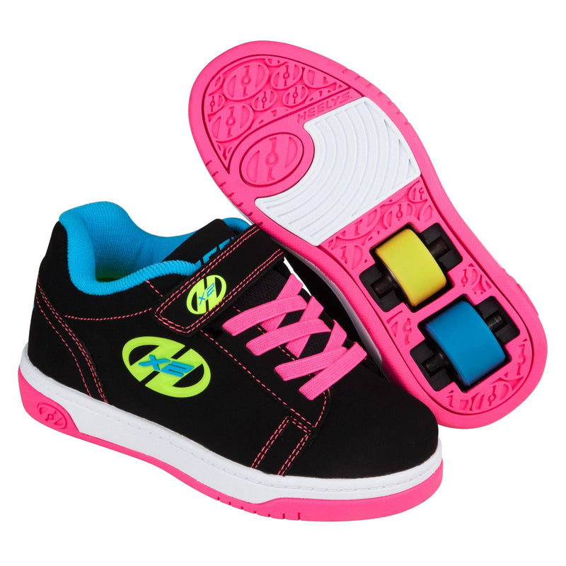 Black Neon Girls Two Wheel Heelys - Main View