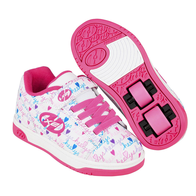 Heelys X2 Dual Up White/Pink/Multi Two Wheeled Heelys - Main View
