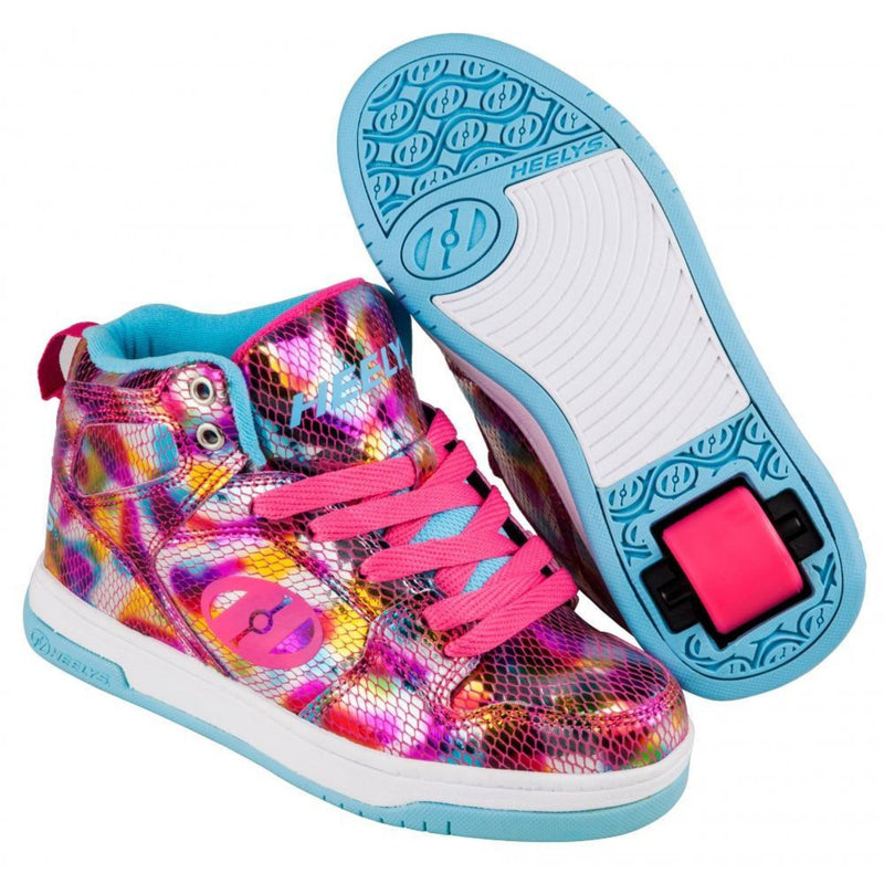 Pink Snake Skin Girls One Wheel Heelys - Main View