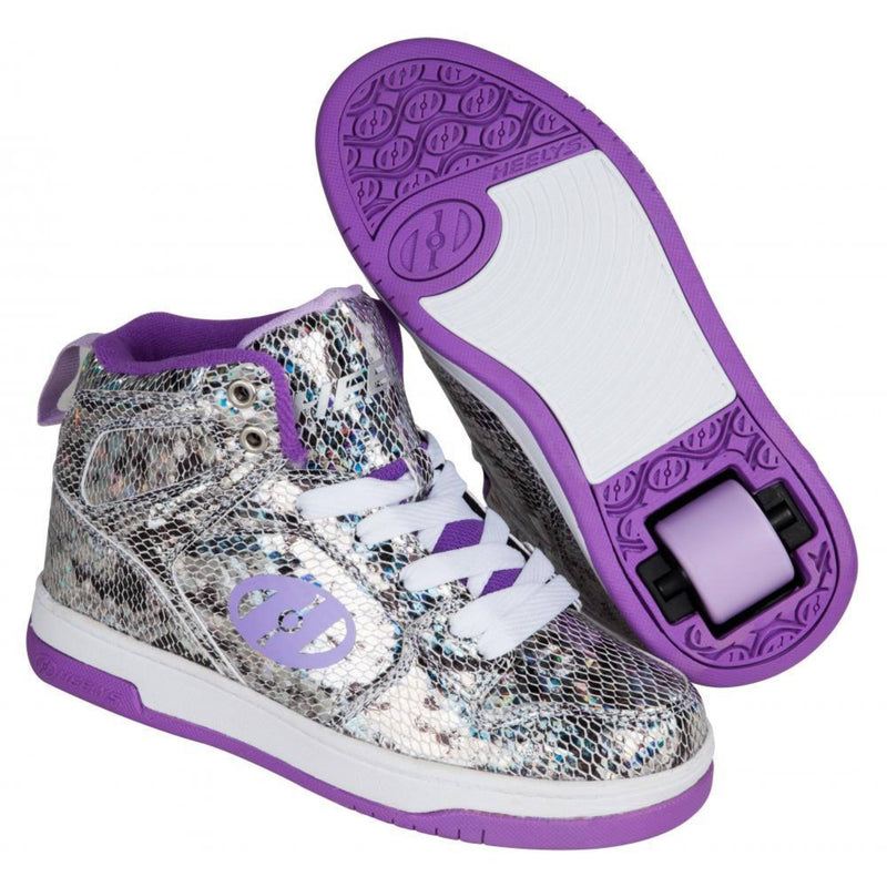 Purple Snake Skin Girls One Wheel Heelys - Main View