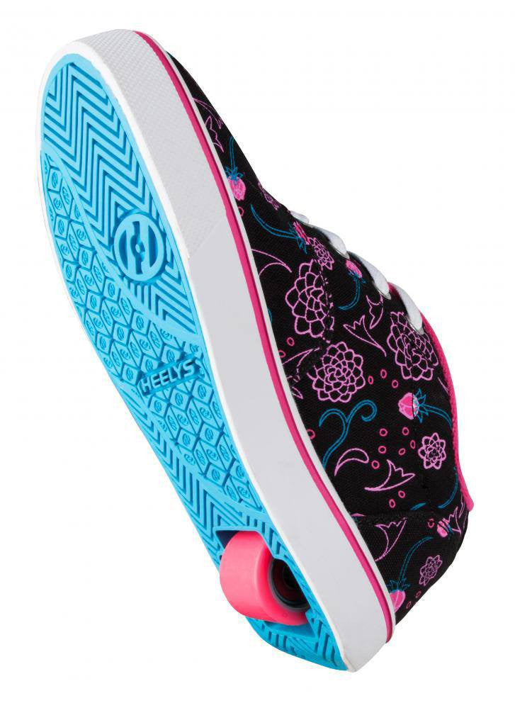 Heelys Launch Black/Hot Pink/Blue roller shoes - underside