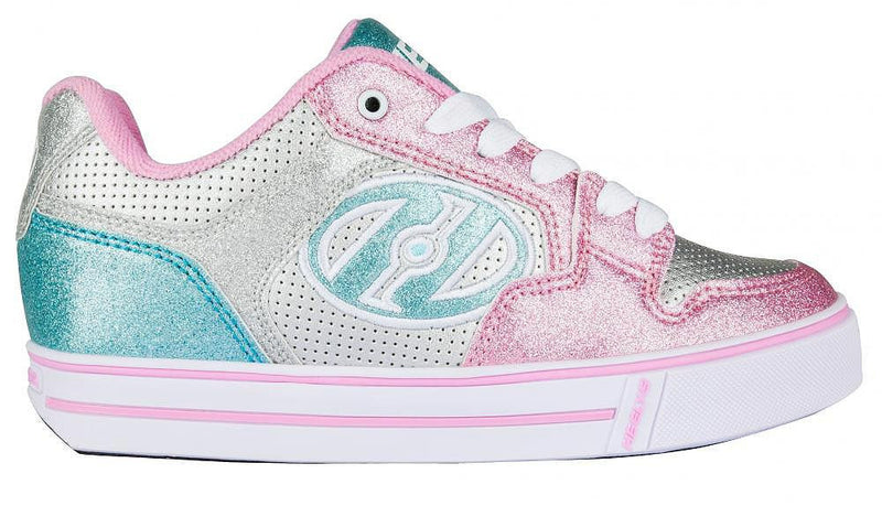 Heelys Motion Plus - Silver Light Pink Light Blue - Side View