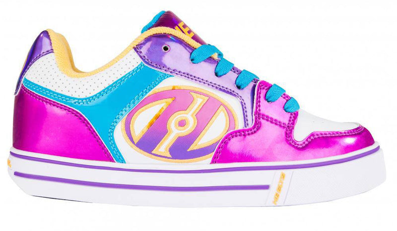 Heelys Motion Plus White Fuchsia Multi One Wheel Heelys - Side View