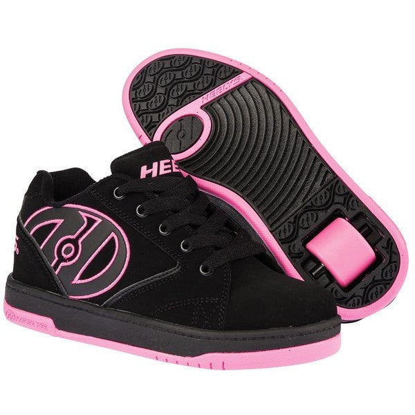 Heelys Propel 2.0 Black Pink One Wheel Heelys - Front View