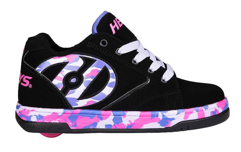 Heelys Propel black/lilac/pink/confetti roller shoes - side view