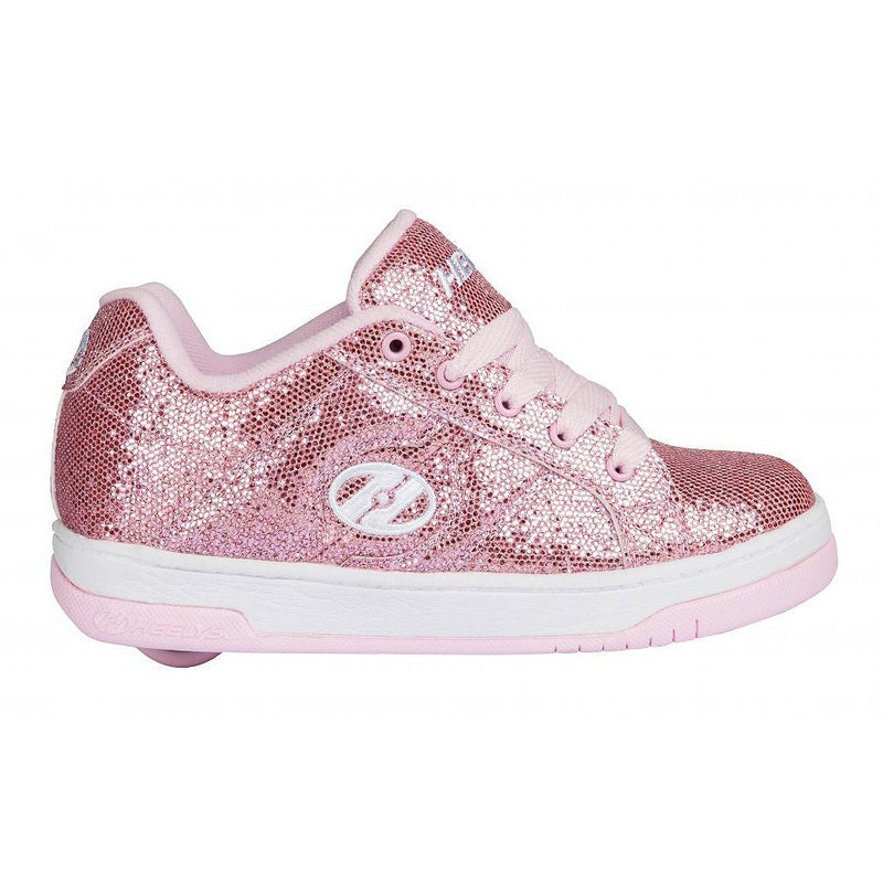 Heelys Split Light Pink Disco Glitter roller shoes
