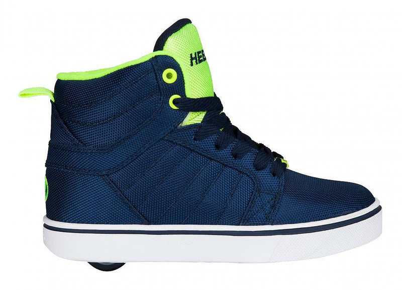 ys Uptown navy yellow roller shoes - side view