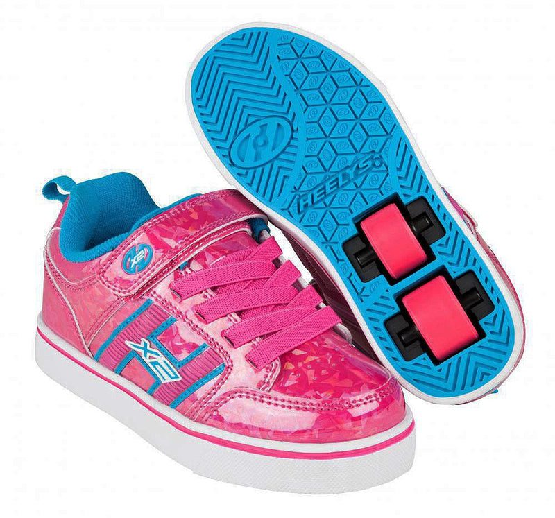 Heelys X2 Bolt Plus Hot Pink Hologram/Neon Blue Two Wheel Heelys - main view
