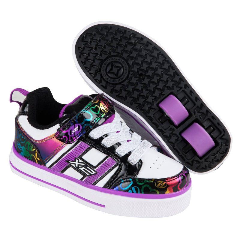Purple Rainbow Flashing Girls Heelys - Main View