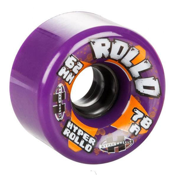 Hyper Rollo 62mm 78A Outdoor Purple Quad Skate Wheels [Set of 8] - Main View