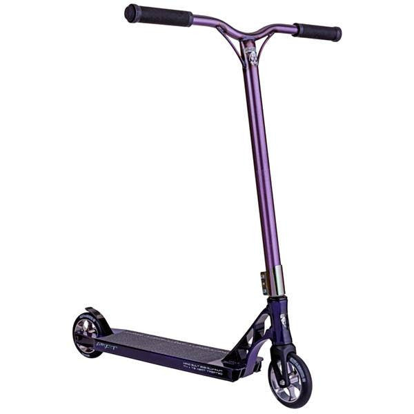 Grit Invader 125 2015 Purple Raw Stunt Scooter - Main View