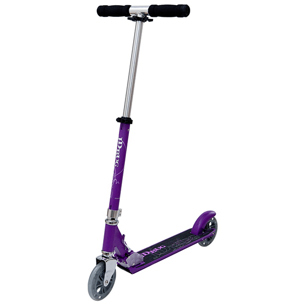 JD Bug Street 150 Matt Purple Folding Push Scooter - Main View
