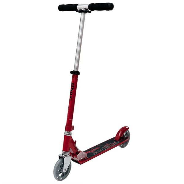 JD Bug Street 150 Red Glow Pearl Folding Push Scooter - Main View