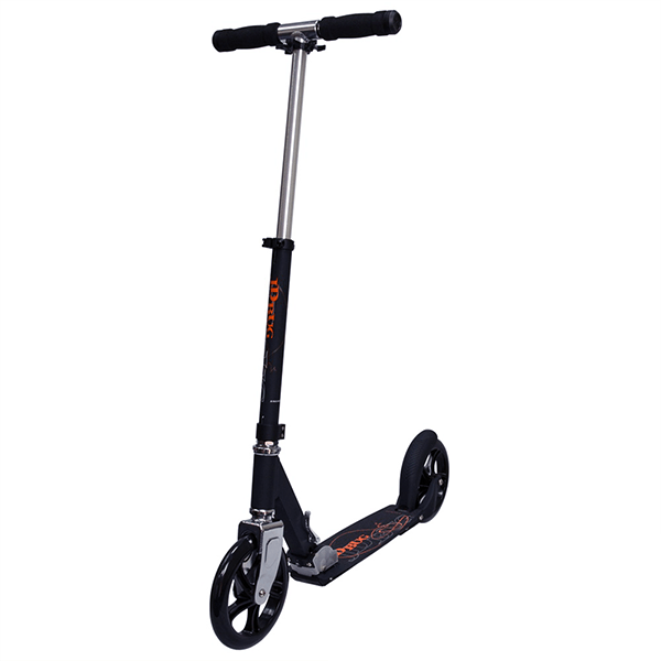 JD Bug Street 200 Matt Black Folding Push Scooter - Main View