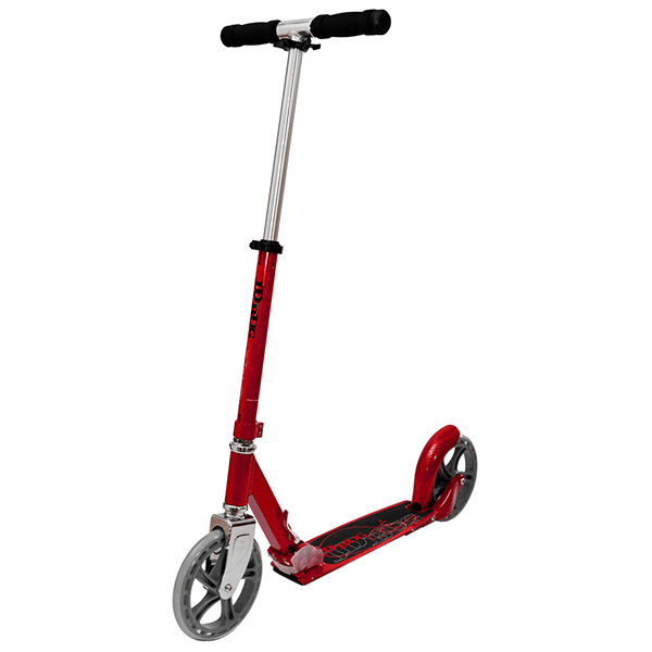 JD Bug Street 200 Red Glow Pearl Folding Push Scooter - Main View