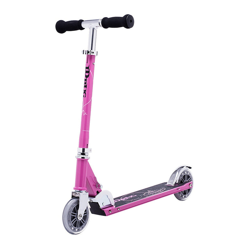 JD Bug Classic Street 120 Pastel Pink Folding Scooter - main view