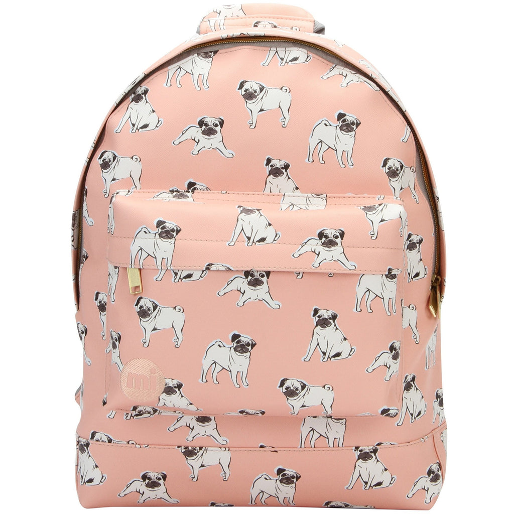 Mi-Pac Pugs Backpack in Peach - front view