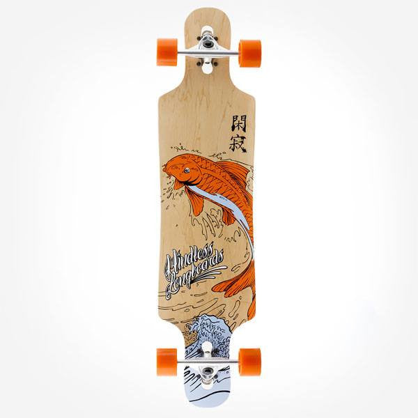 Mindless Sanke Drop Through Orange Complete Longboard - Main View