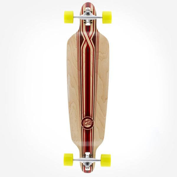 Mindless Savage III Drop Through Red Complete Longboard - Main View
