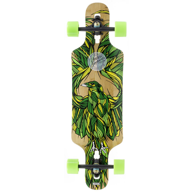 MINDLESS GREEN LONGBOARD - MAIN VIEW