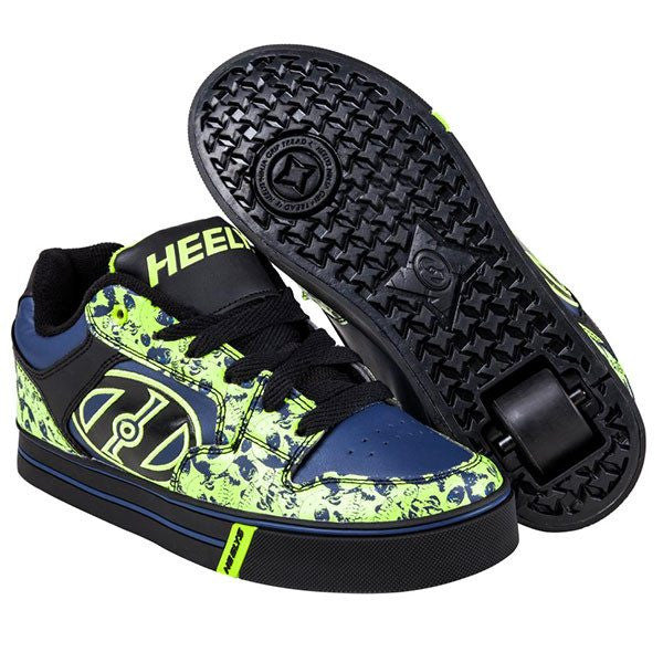 Heelys Motion Plus - Black/Navy/Lime Skulls One Wheel Heelys - Main View