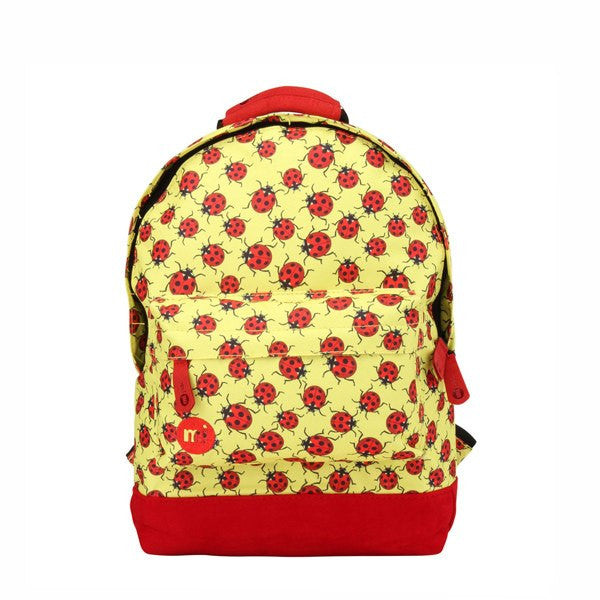Ladybird Print Yellow Backpack - Main View