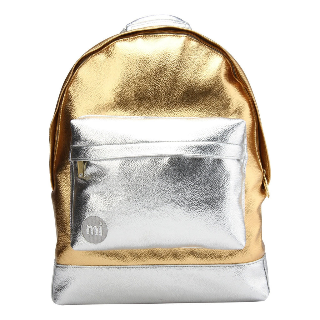 Mi-Pac 24K Backpack in Gold and Silver - front view