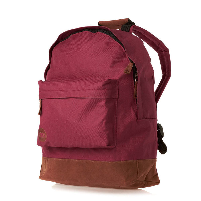 Mi-Pac Burgundy Backpack - Front View