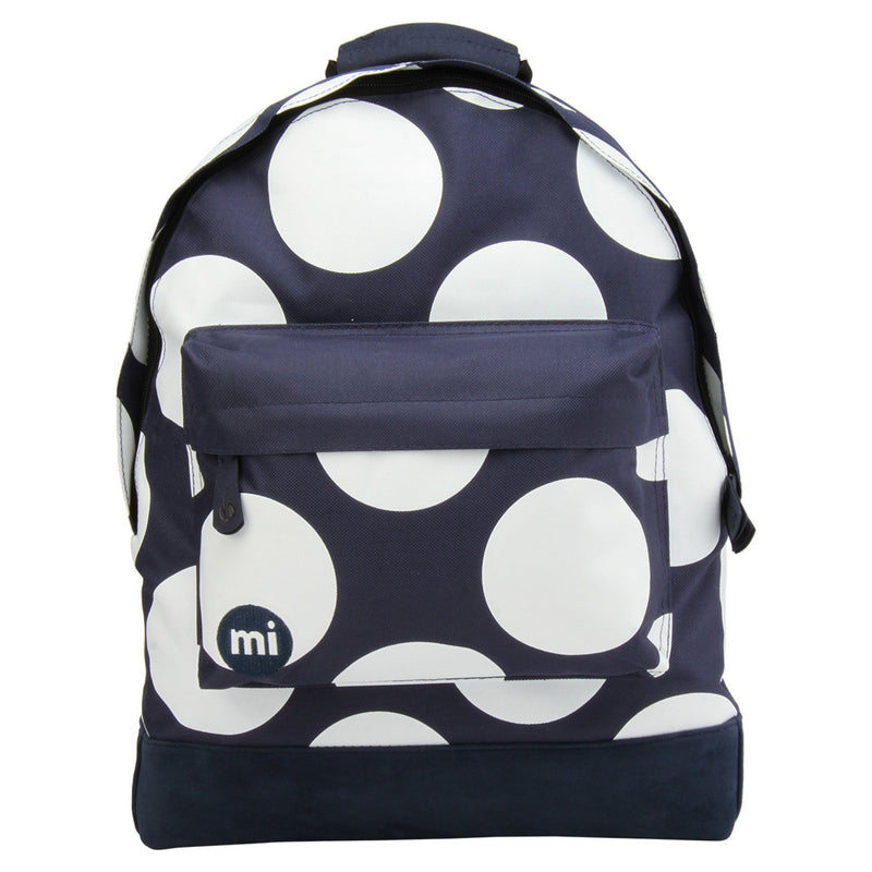 Mi-Pac Polka Navy White Backpack - front view
