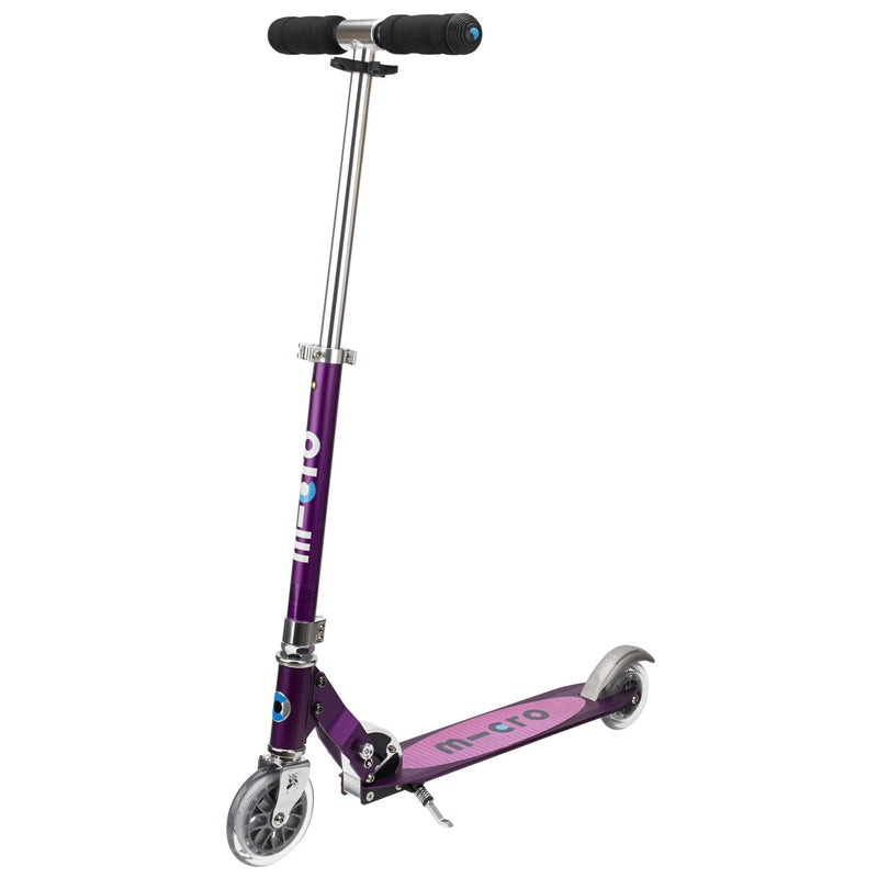 Micro Sprite Folding Scooter in Purple Stripe - main view