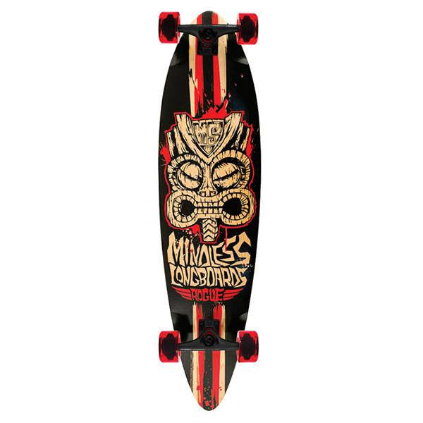 Mindless Tribal Rogue II Black Red Complete Longboard - Main View