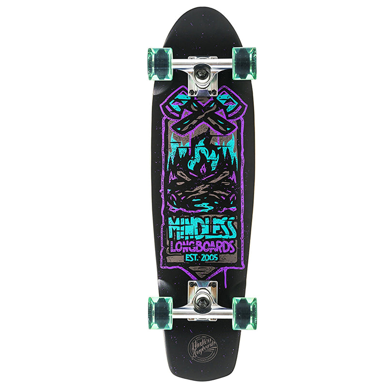 "Mindless Campus IV Complete Longboard in Purple, length 28"" - main view"