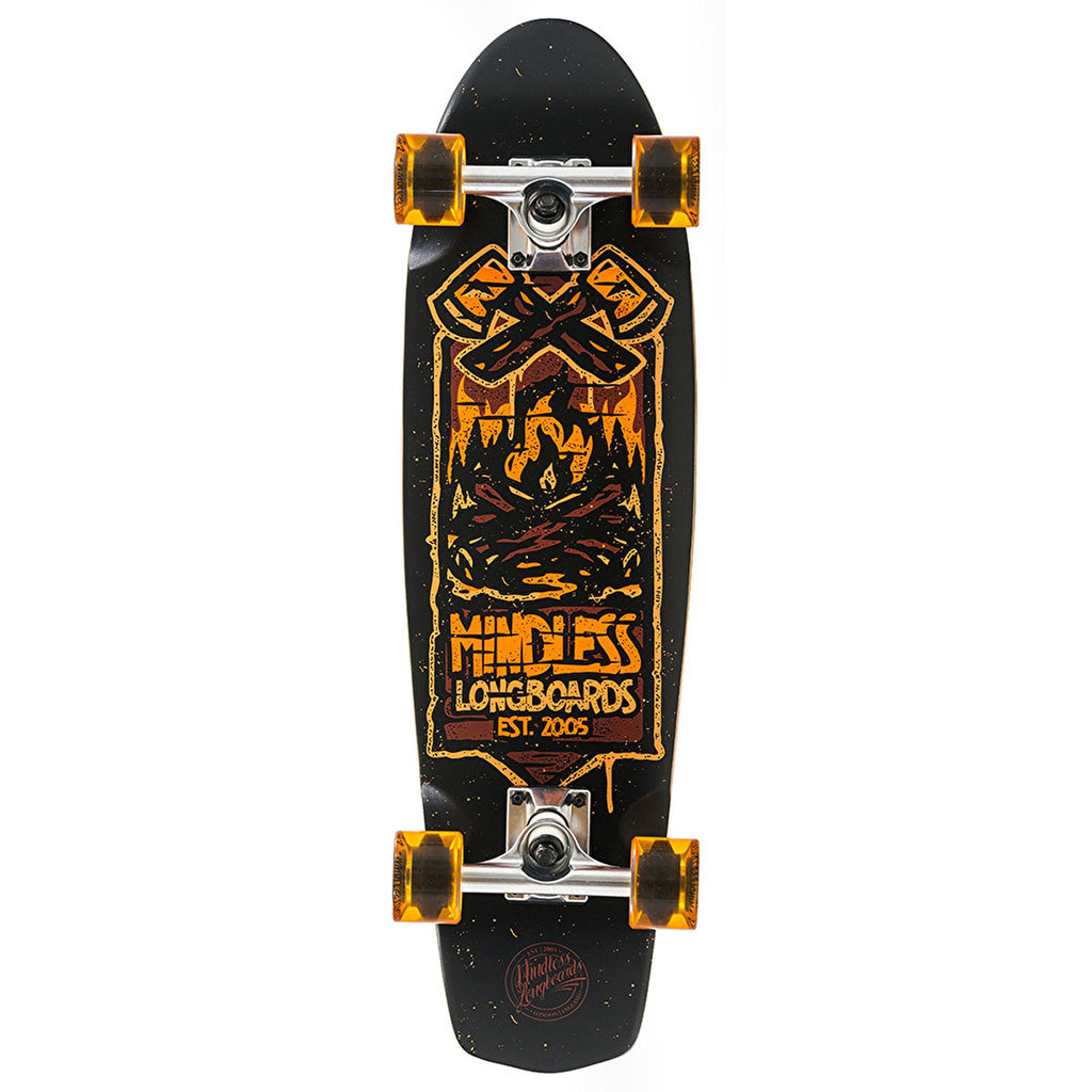 "Mindless Campus IV Complete Longboard in Orange, length 28"" - main view"