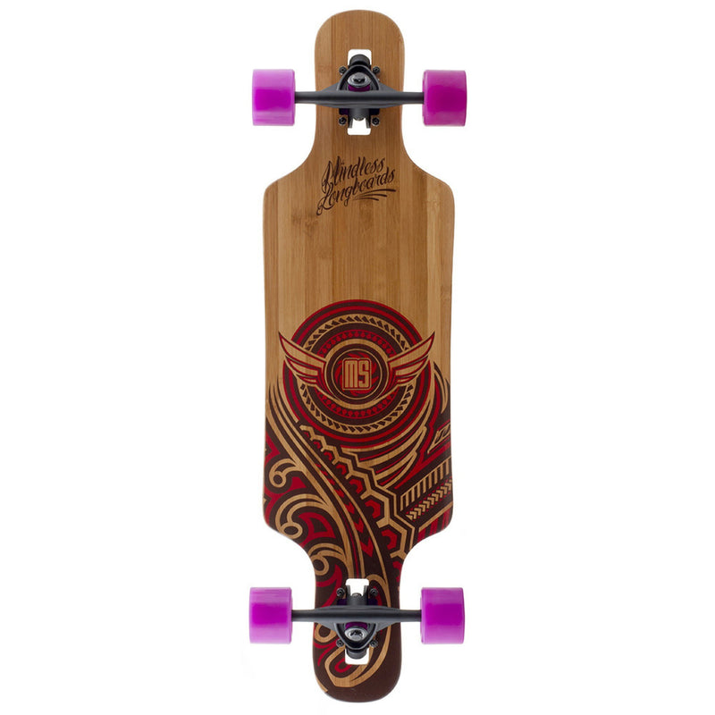 Mindless Raven II Complete Longboard in Natural/Red - main view