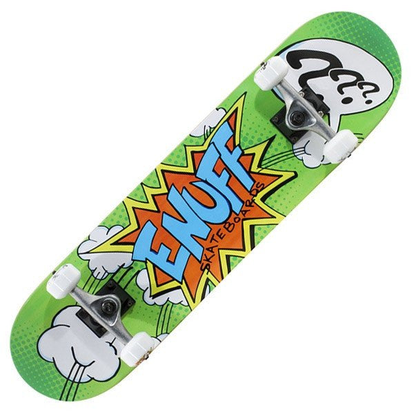 Enuff Pow II Green Mini Complete Skateboard - Main View
