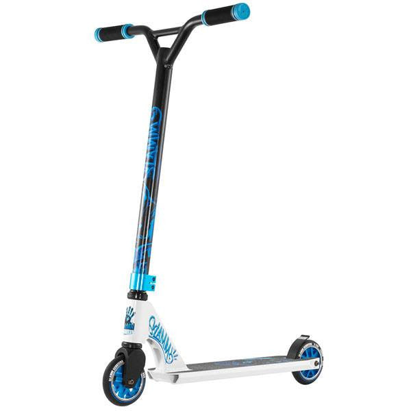 Slamm Mischief II Rebel White Blue Black Stunt Scooter - Main View