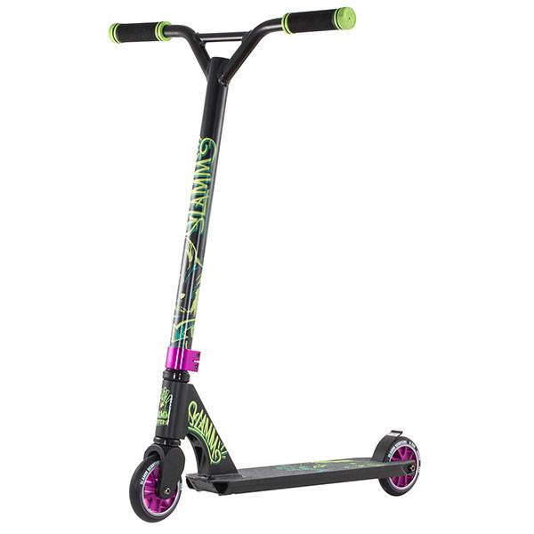 Slamm Mischief II Rebel Black Green Purple Stunt Scooter - Main View