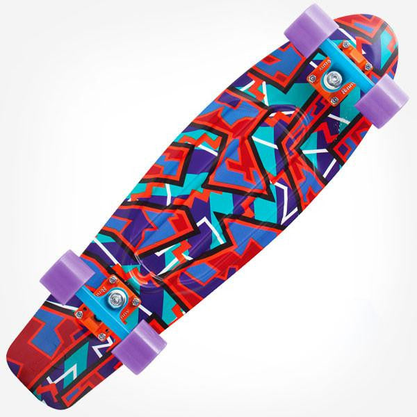"Penny Nickel 27"" Fresh Prints Spike Complete Cruiser Skateboard - Main View"