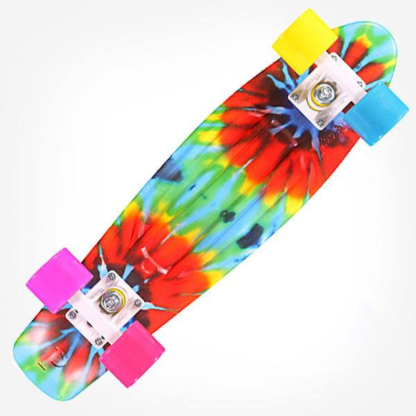 "Penny 22"" Tie Dye Complete Cruiser Skateboard - Main View"