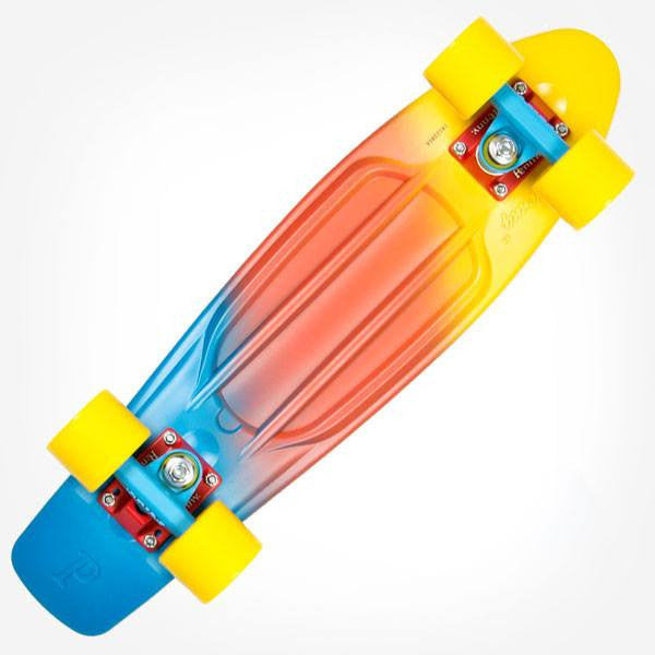"Penny 22"" Painted Fade Canary Complete Cruiser Skateboard - Main View"