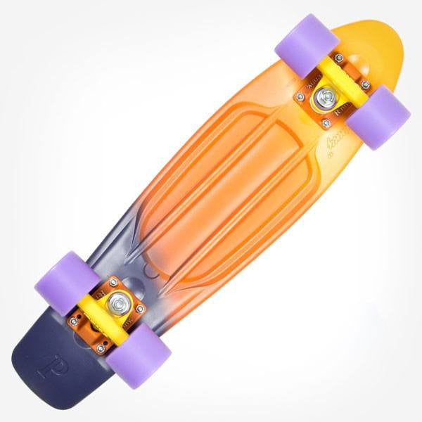 "Penny 22"" Painted Fade Dusk Complete Cruiser Skateboard - Main View"