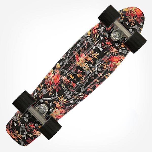 "Penny 22"" Floral Complete Cruiser Skateboard - Main View"