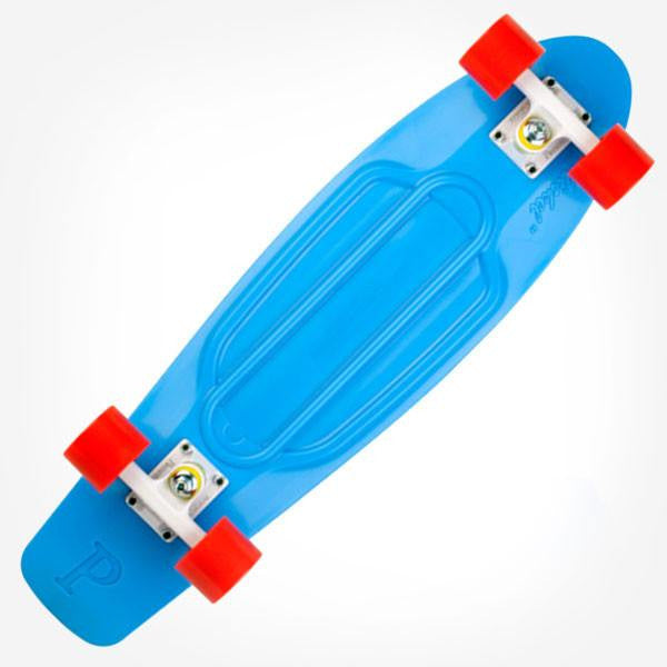 "Penny Nickel 27"" Blue White Red Complete Cruiser Skateboard - Main View"