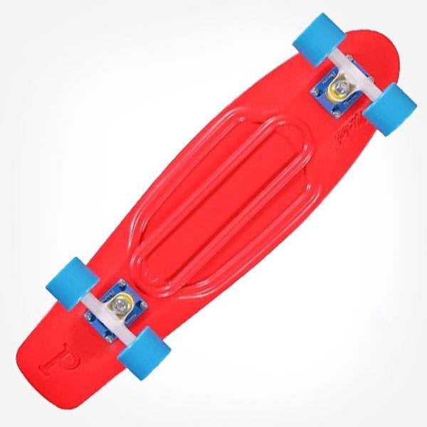 "Penny Nickel 27"" Red Blue Complete Cruiser Skateboard - Main View"