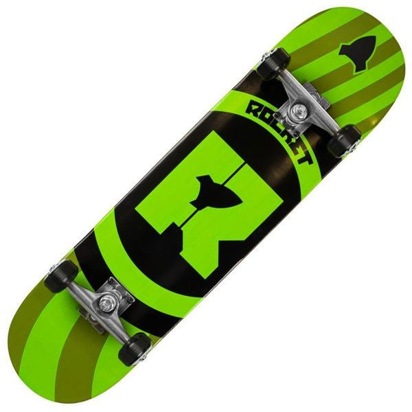 Rocket Pro Logo Orbital Green Complete Skateboard - Main View