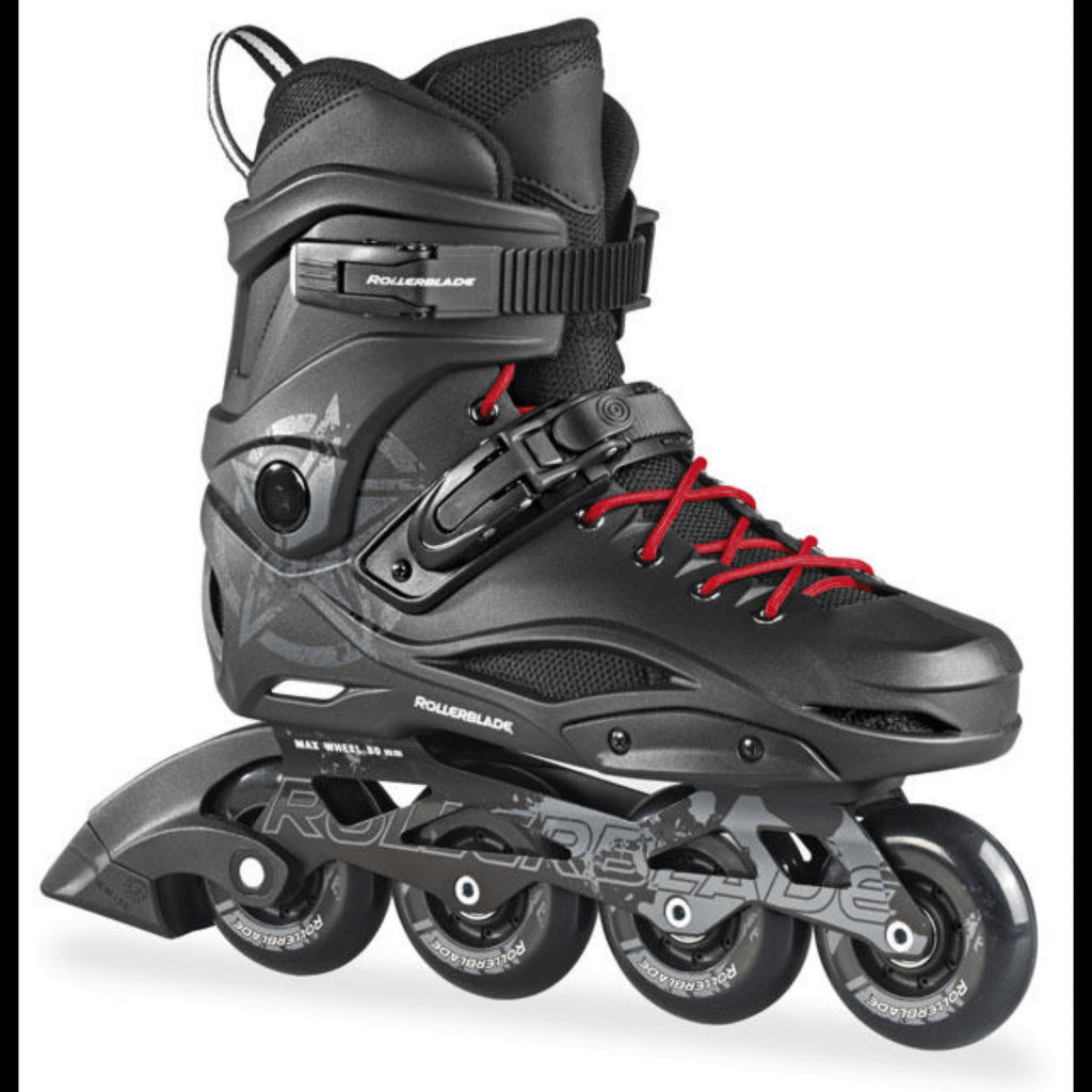 Rollerblade RB80 Black Red Mens Inline Skates - Main View