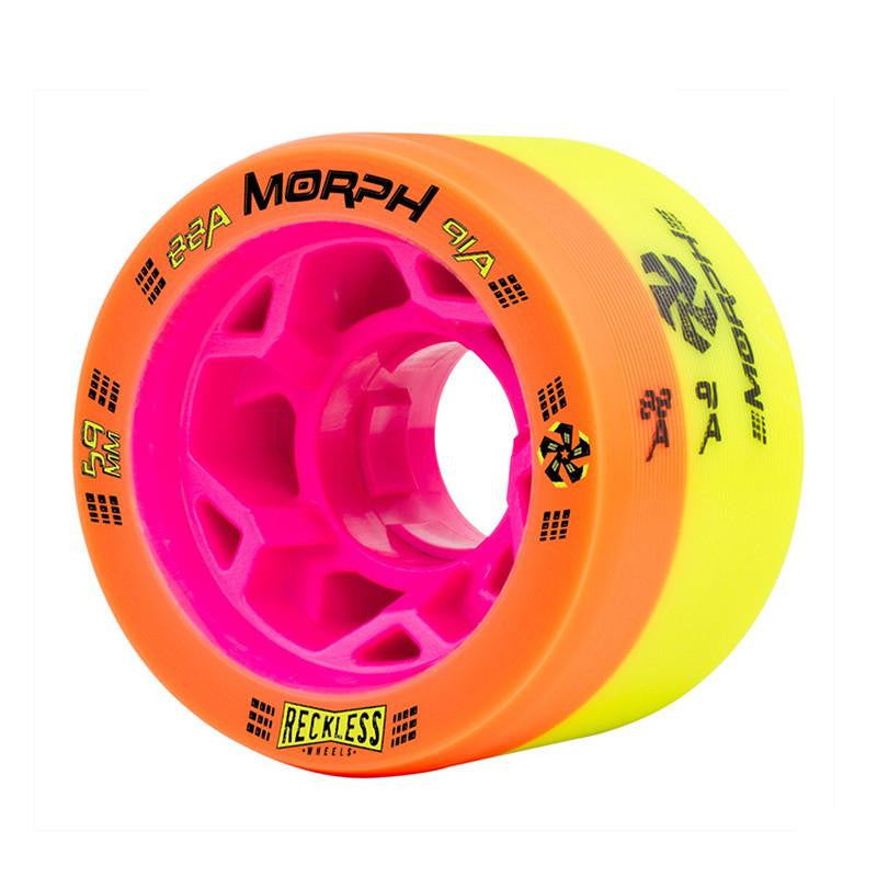 RECKLESS ORANGE YELLOW ROLLER DERBY WHEELS - MAIN VIEW