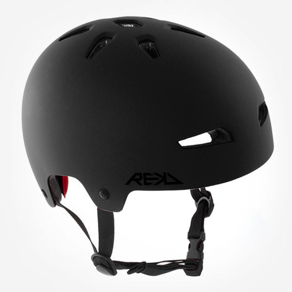 REKD Elite Black Skate Bike Protective Helmet - Main View