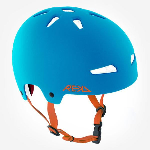 REKD Elite Blue Orange Skate Bike Protective Helmet - Main View