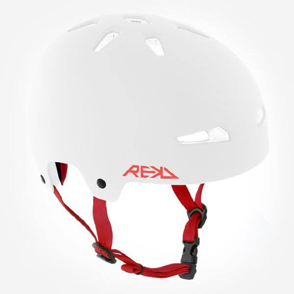 REKD Elite White Red Skate Bike Protective Helmet - Main Vieww